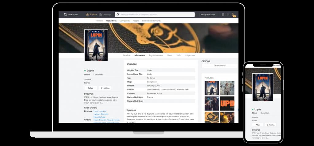 Moonday app Lupin-tv series